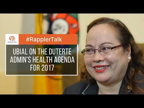 Rappler Talk: Paulyn Ubial on the Duterte admin's health agenda for 2017