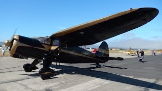 "GoPro Flight in Stinson V77 Reliant (AT-19) ""Gull Wing"" 30th West Coast Cub Fly-In at Lompoc Airport"