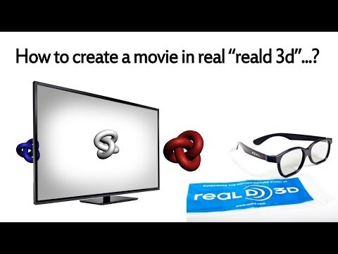 How to create a movie in real Reald 3d - tutorial with 3ds max & After Effects