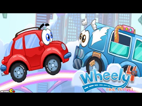 Wheely 4 Time Travel Walkthrough All Levels HD