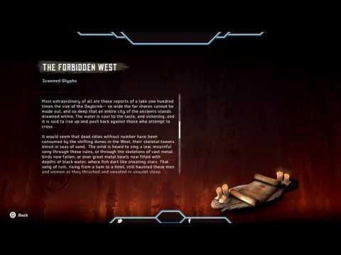 Horizon Zero Dawn Scanned Glyphs The Forbiden West content and location