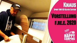 Vorstellung Knaus Sport 500 KD Silver Edition | f.re.e 2020 MUC | Happy Camping