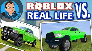 Another ROBLOX vs Real Life in Roblox Vehicle Simulator this time with the Dodge Ram 3500