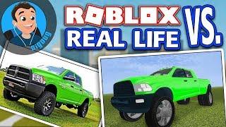 Un autre ROBLOX vs Real Life dans Roblox Vehicle Simulator cette fois avec la Dodge Ram 3500