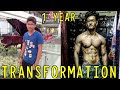 18 Years Old - 1 Year Crazy Natural Body TRANSFORMATION  | Journey From Skinny to Fit