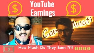 BB KI VINES AND CARRY MINATI EARNINGS || How Much Do They Earn? ||