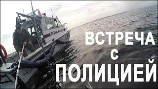 Рыбалка на Каяке - Встреча с Полицией (Sea Kayak Fishing)