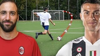 RONALDO vs HIGUAIN FOOTBALL CHALLENGE! | JUVENTUS vs MILAN 2019