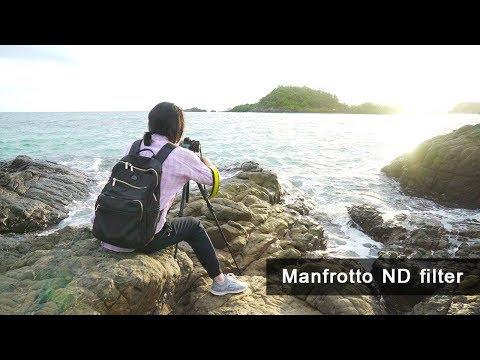 ถ่ายทะเลน้ำฟุ้งด้วย Manfrotto ND Filter แบบกลม