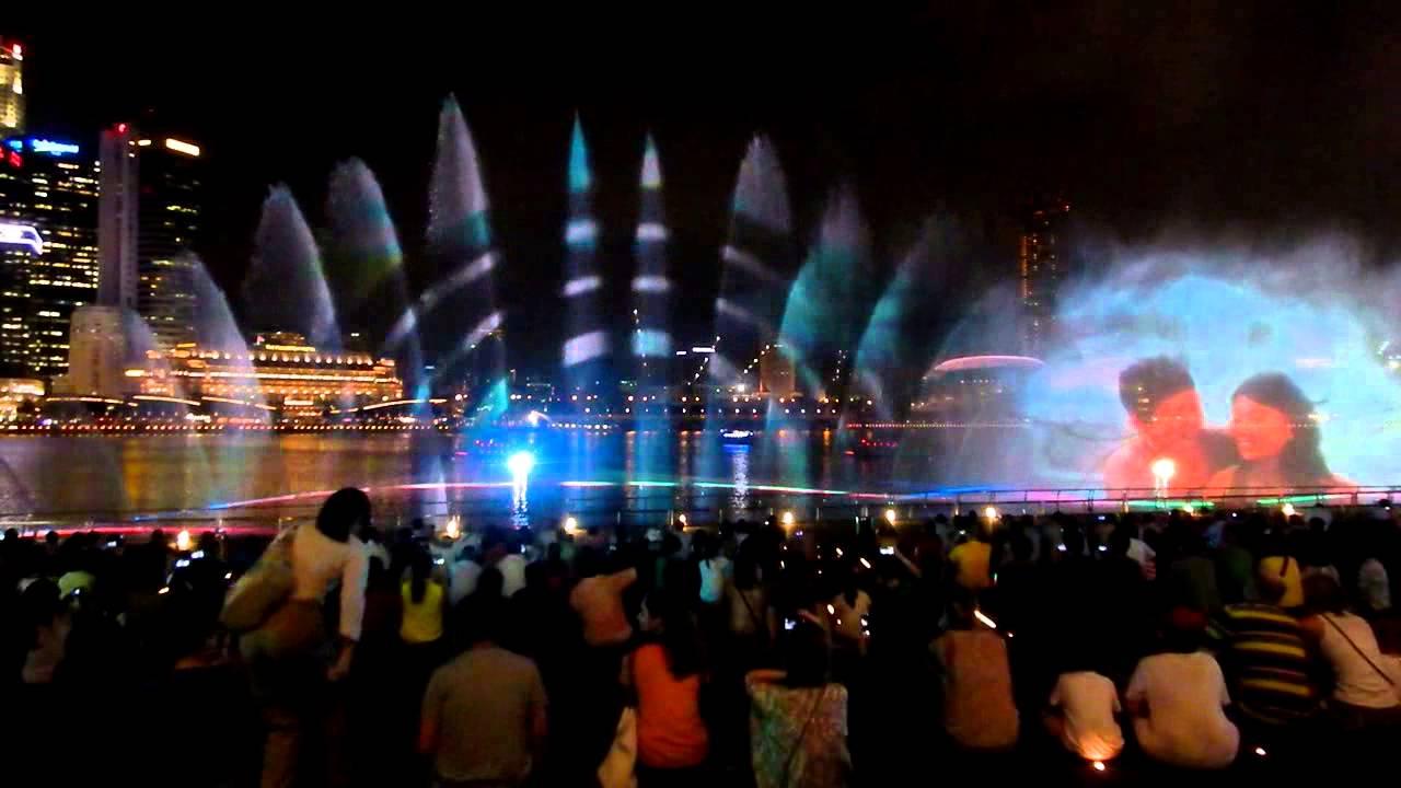 wonderful laser show marina bay sands youtube