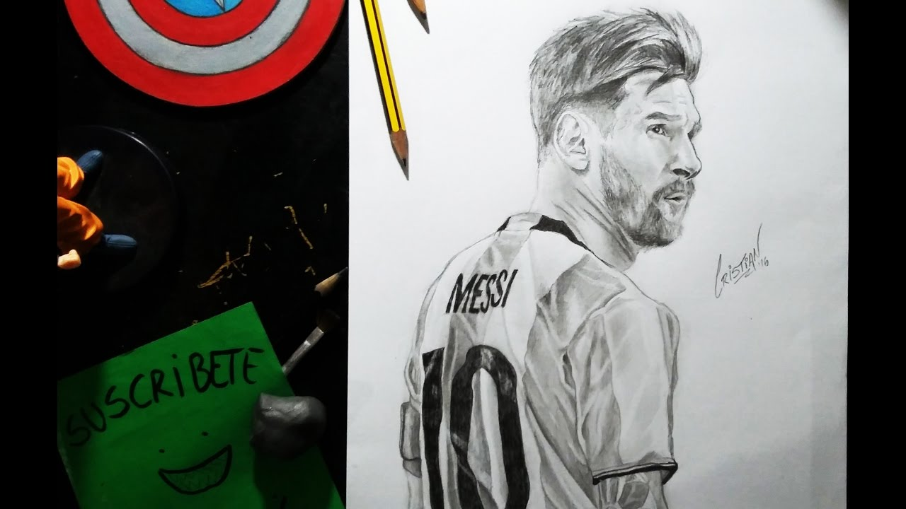 Dibujando a LIONEL MESSI  Drawing LIONEL MESSI  Speed drawing