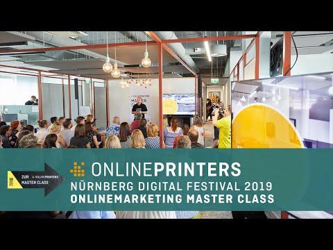 Impressionen der Onlinemarketing Master Class (Nürnberg Digital Festival 2019)