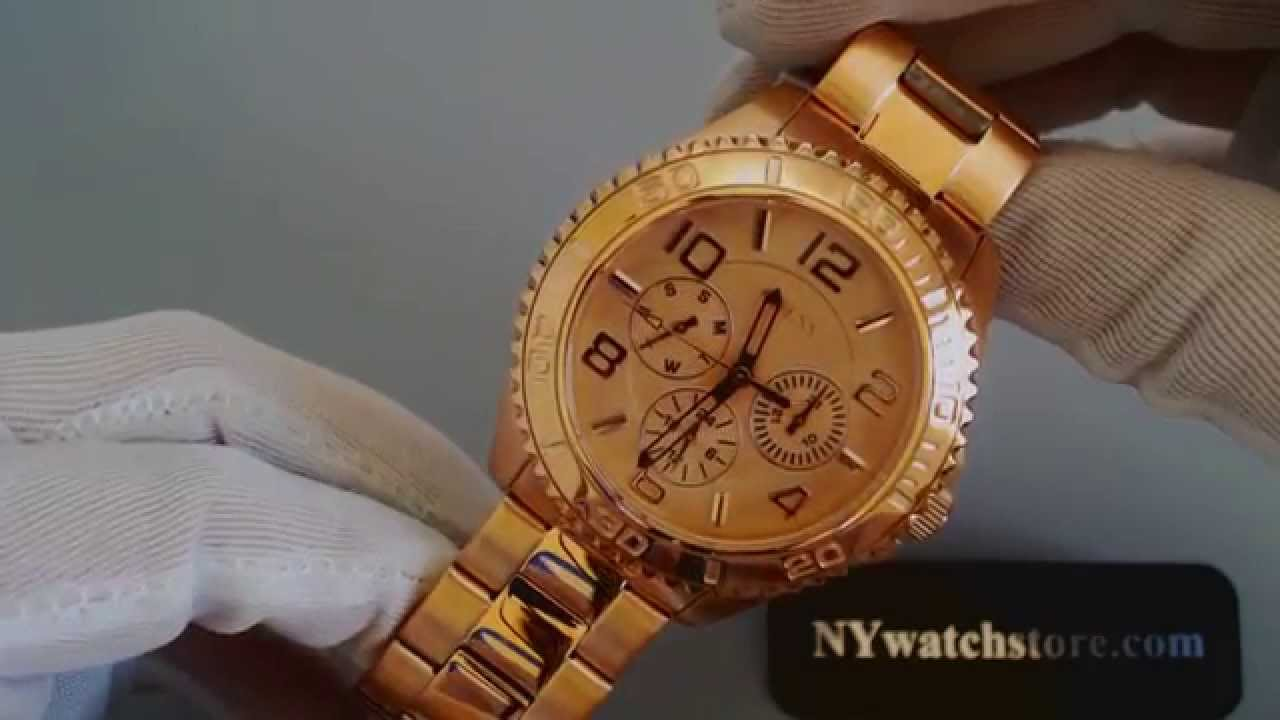cd9c129d2ebd Women s Rose Gold Tone Guess Multi Function Watch U0231L4 - YouTube