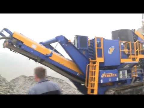 Fintec 1080 Cone Crusher Start Up And Crushing Rocks