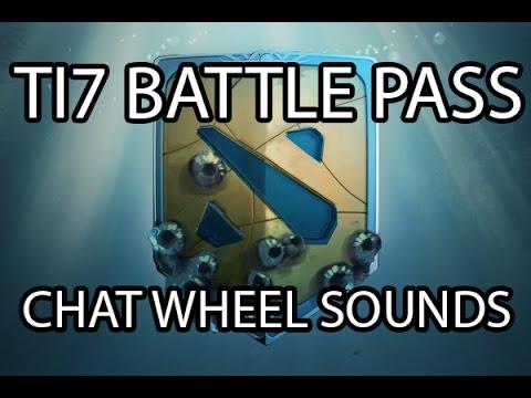 5 4 17 dota 2 ti7 battlepass new chat wheel sounds youtube