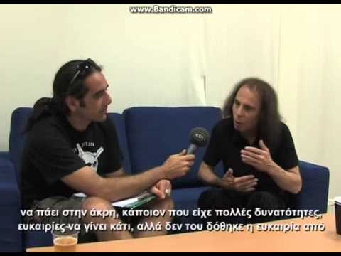 Ronnie James Dio     interview 2009 for greek TV      part 1