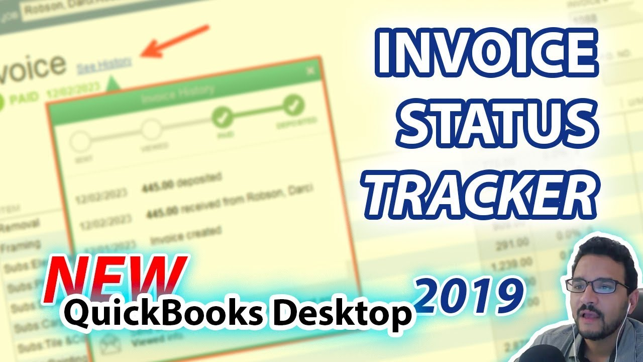 QuickBooks 2019: NEW! Invoice Status Tracker (Desktop Version)