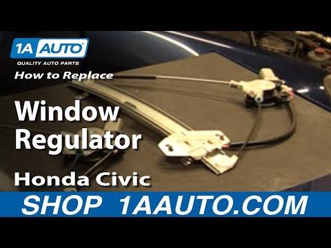 How to Replace Window Regulator 01-05 Honda Civic
