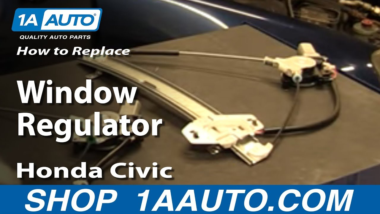 How to replace install window regulator 2001 05 honda for 2000 honda civic window motor