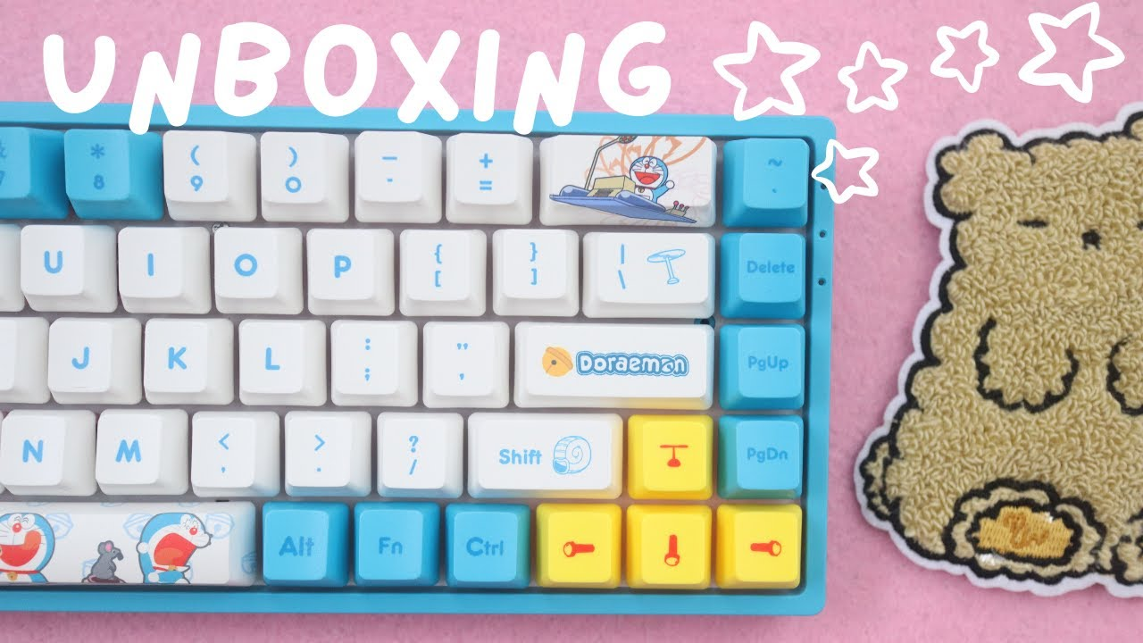 Kawaii Unboxing! New Doraemon Keyboard and a gift from Glitter Bones Boutique