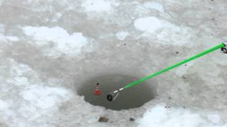 Зимняя рыбалка на Ейском лимане.