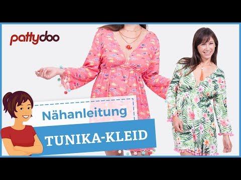 Tunika/ Kleid mit Gummizug im Ibiza-Style selber nähen - YouTube