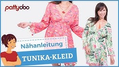 Tunika/ Kleid mit Gummizug im Ibiza-Style selber nähen