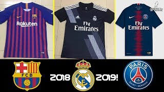 12 Best New kits of The most popular European Clubs for the next season 2018/19 - HD
