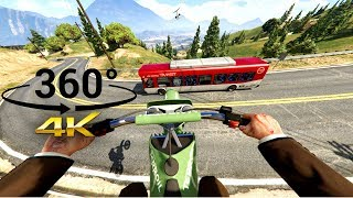 Chasing a Jet on a Dirtbike in VR (HD VERSION) - GTA V 360°