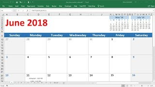 How To Create a Calendar In Excel 2016 - VERY EASY!