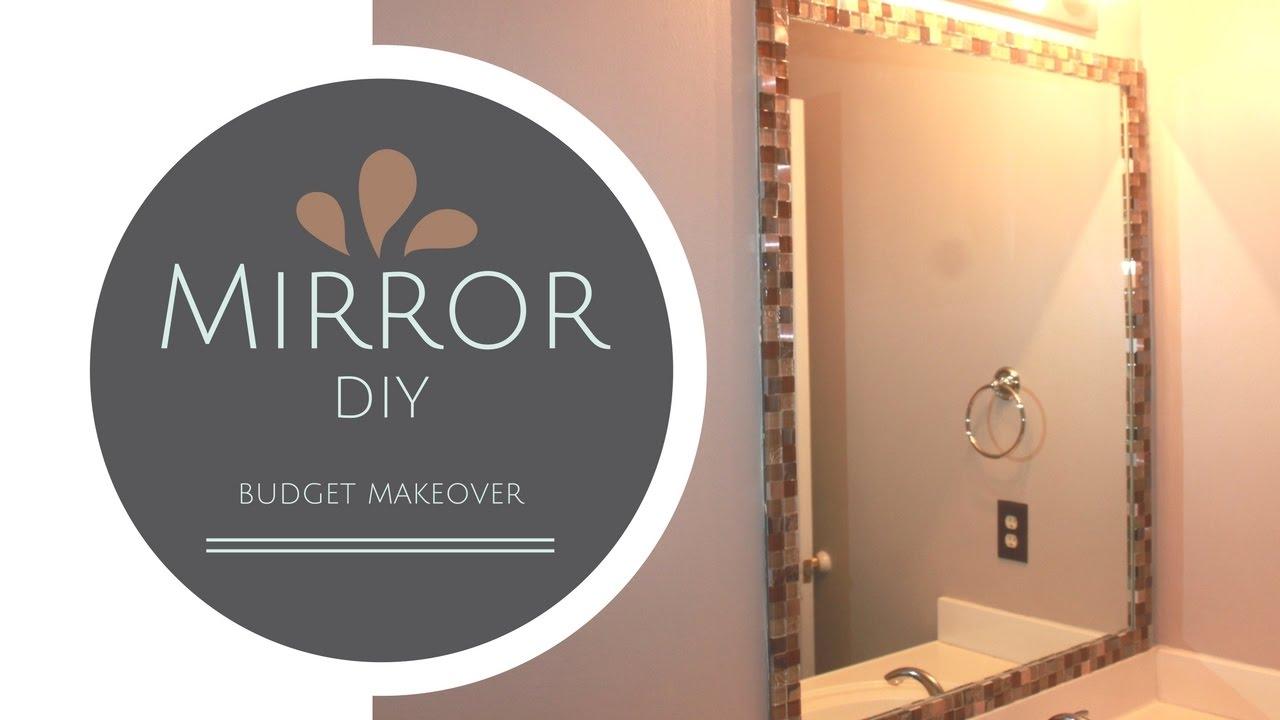 easy mirror frame diy with tiles