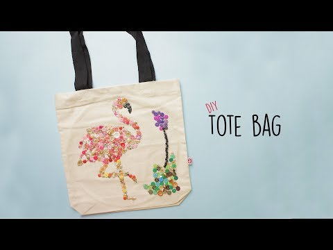 DIY Tote Bag  Button craft  Best Out Of Waste