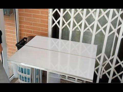 Como hacer una mesa de libro con bisagras de piano youtube - Mesas de libro para salon ...