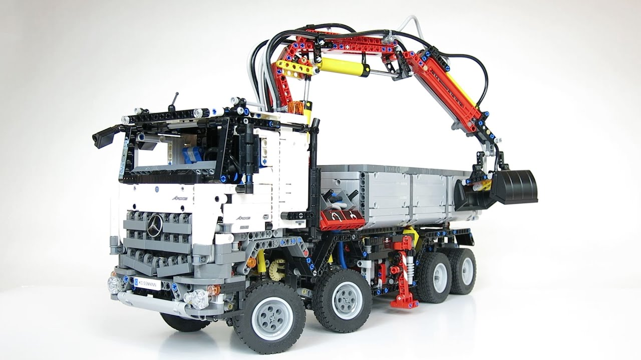 lego technic 42043 mercedes benz arocs 3245 demo youtube