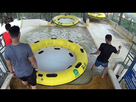 Family Rafting Water Slide at A'Famosa Water Theme Park