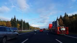 Dashcam Beelden Utrecht: A27 Toerit Maarssen Aansluiting N230 ----»Knooppunt Eemnes »A1.