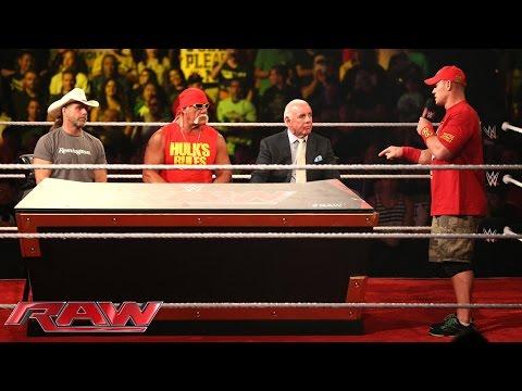 John Cena interrupts the WWE Hall of Fame Forum: Raw, Aug. 25, 2014