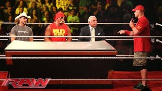 John Cena interrupts the WWE Hall of Fame Forum: Raw, Aug. 25, 2014