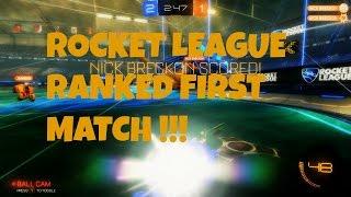 First Ranked Rocket League Match (Competitive) 2v2 ~ W/ Fleekasscat!!