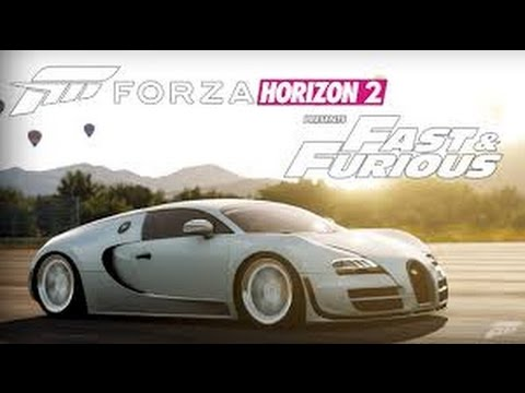 bugatti veyron 3 way drag forza horizon 2 presents fast furious youtube. Black Bedroom Furniture Sets. Home Design Ideas