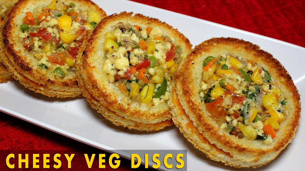Cheesy veg disc healthy baked appetizer indian bread appetizer cheesy veg disc healthy baked appetizer indian bread appetizer recipe kanaks kitchen youtube forumfinder Gallery