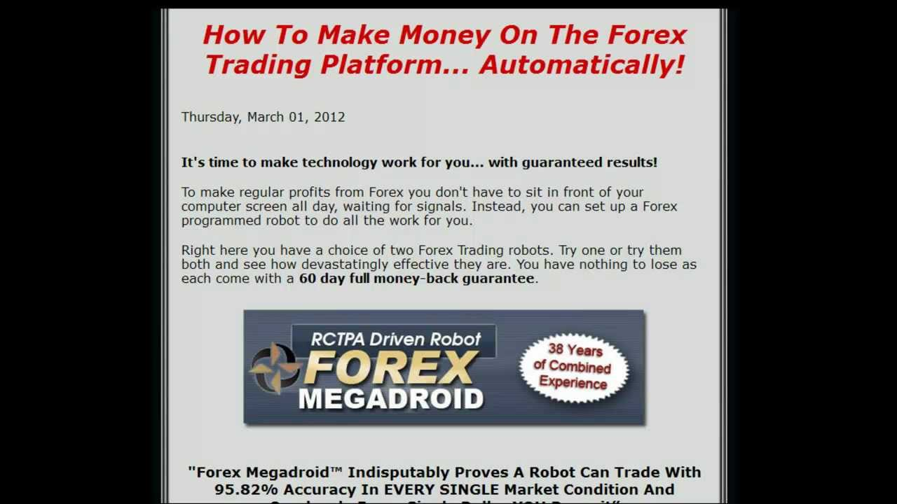 Robot currency trading system