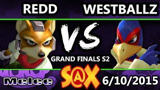 S@X 101 - Westballz (Falco) Vs. VGBC | Redd (Fox) SSBM Grand Finals S2 - Smash Melee