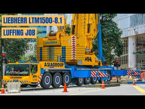 Asiagroup's Liebherr LTM1500-8.1 91m luffing jib assembly