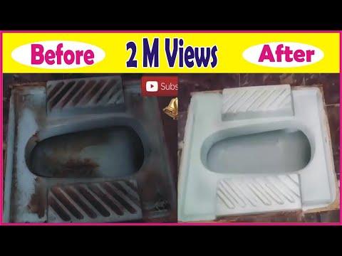 HOW TO CLEAN VERY DIRTY TOILET IN MINUTES | washroom ko saaf karne ka tarika | Golden Hacks
