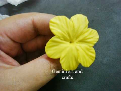Miniature cold porcelain flower tutorial by gina bellousminiature.