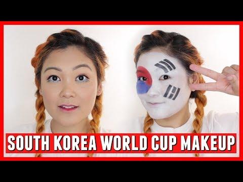 South Korea World Cup 2018 Makeup Tutorial