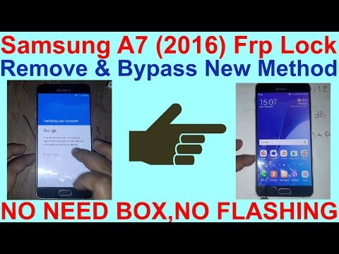 Samsung A7 2016 Frp Lock Remove & Bypass New Method