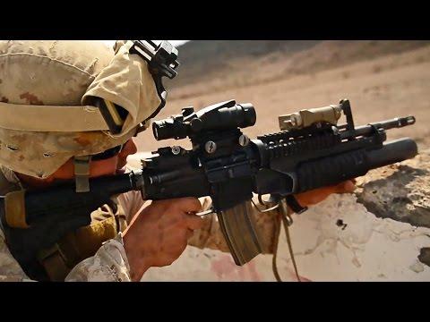M4カービン射撃&手榴弾投擲訓練 アメリカ海兵隊
