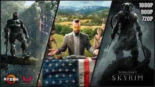3 Games on Ryzen 5 2400G (APU) | Far Cry 5,  TES: Skyrim, Crysis 3 | 1080p, 900p & 720p Gameplay